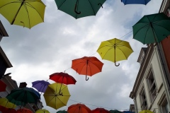 Paraplu kunst te Utrecht