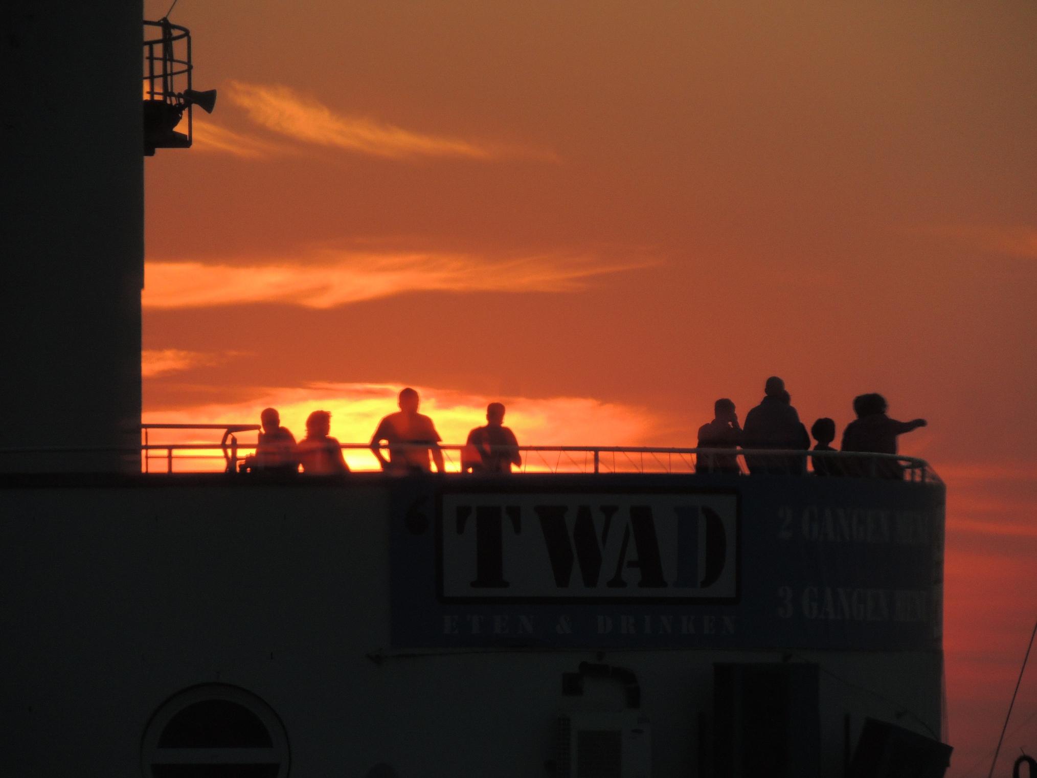 Zonsondergang bij Harlingen 2015
