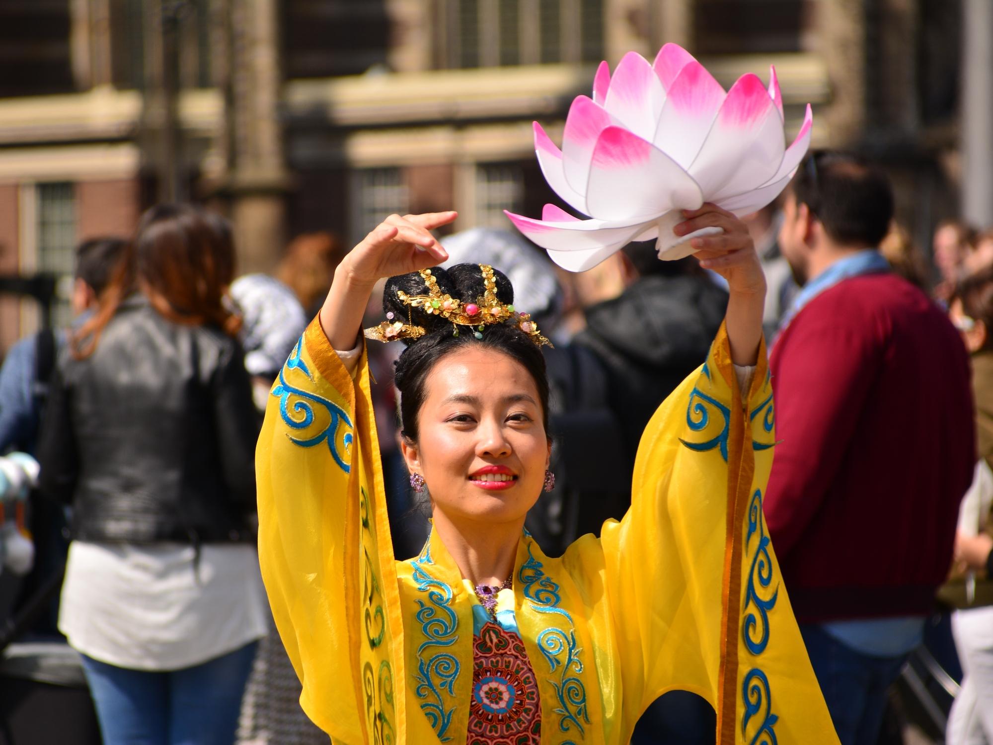 Falun Dafa demonstratie te Amsterdam