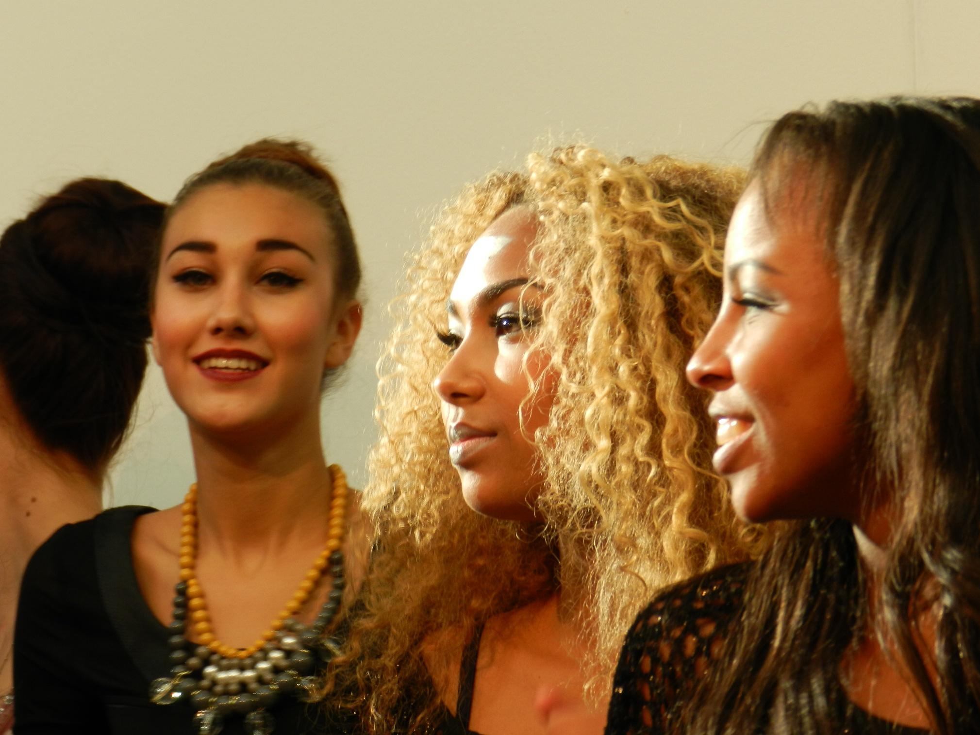 Modellen tijdens modeshow
