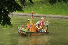 Orgelbootje in singel te Utrecht