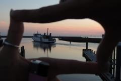 Vingers omkaderen boot