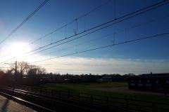 Lucht bij station Zuilen