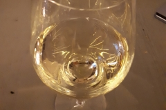 Spiegeling in glas wijn