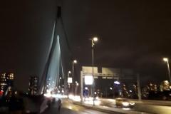 Erasmusbrug te Rotterdam bij avond