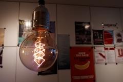 Lamp in wachtruimte