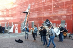 Muziekband op Stadhuisbrug