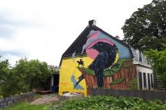 Verfdokter muurschildering bij Oud Amelisweerd
