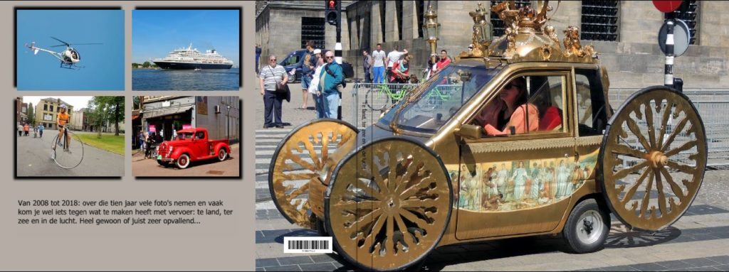 Kaft van boek met foto's over vervoer, klik voor screenshots
