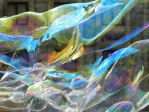 Kunst zeepbellen Dam
